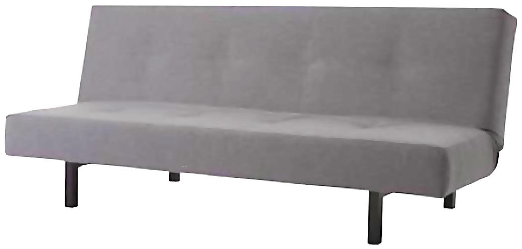 The Cotton Balkarp Cover Replacement, Size: 190cm Wide, Not 170cm, is Custom Made for Ikea Balkarp Sofa Bed, Or Futon Slipcover (Cotton Light Gray)