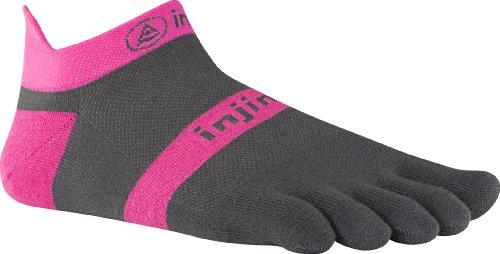 injinji Run Lightweight No Show Xtralife Socks, Pink Slate,