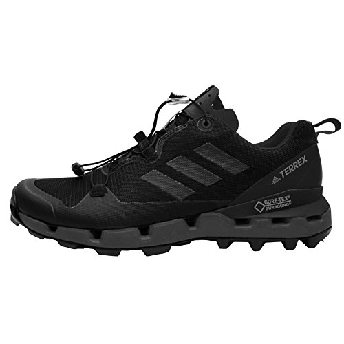 adidas outdoor Terrex Fast GTX-Surround Mens Hiking Boot Black/Grey Five/Hi-Res Red