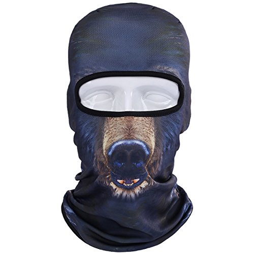 JIUSY Animal Balaclava Face Mask Breathable Speed Dry Outdoor Sports Riding Ski Head Cover Motorcycle Cycling UV Protection Helmet BNB08