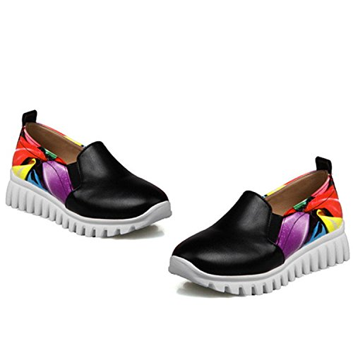 Autumn 34 Size 9 Leisure Kenavinca Quality Spring Shoes Shoes Single 46 Black Comfortable Fashion Fashion Woman Big 7SSOaI