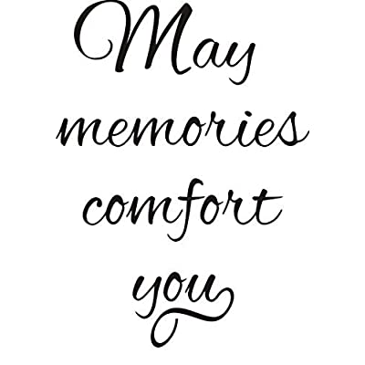 May Memories Comfort You Greeting Rubber Stamp by DRS Designs: Arts, Crafts & Sewing