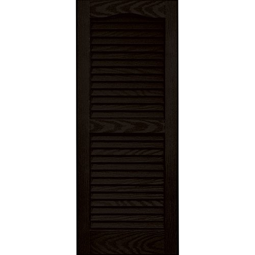 Exterior Shutters Louvered Vinyl Pair White Curb Appeal Wind