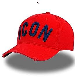 AMCWANG Baseball Cap Hats Solid Pattern Hats Letters Icon Dad Hip Hop Baseball Cap Snapback Cap For Man Woman