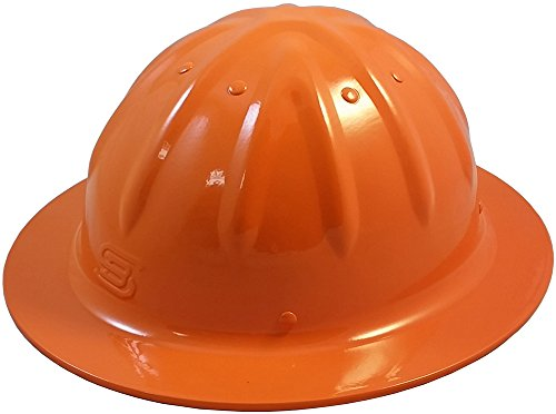 Original SkullBucket Aluminum Hard Hats, Full Brim with Ratchet Suspensions Hi Viz Orange