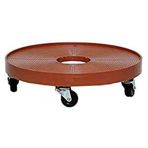 Devault 2400 Plant & Whiskey Barrel Dolly, 24-inches, Terra Cotta color