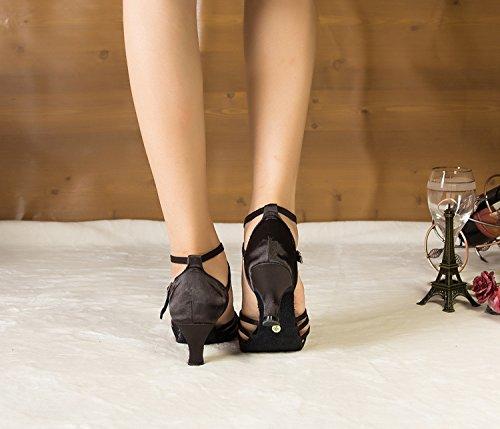 Latina Cross Minitoo Th124 Sandali Ballo nbsp;mid Tacco Da Taogo Satin Black Strap Wedding 18x8F6tw