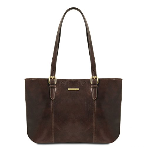 Di Miele Borsa in manici Moro due pelle Annalisa con Tuscany Leather shopping Testa q1EPwqTz