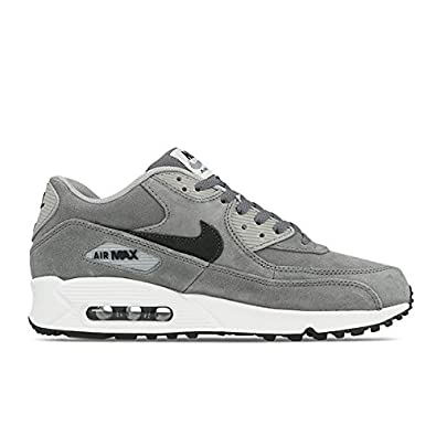 6eaf2311959b NIKE Air Max 90 LTR Premium 666578 002 Grey Leather Running Shoes for Men