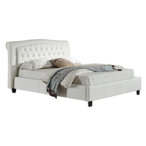 Milton Greens Stars Darcy PU Platform Bed with Tufted Hea...