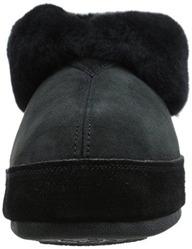 ACORN Mens Sheepskin Bootie Slipper Black 2Px9Sf