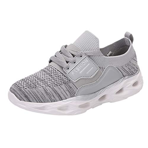 ANOKA Slip on Sneakers for Women Sale Leisure Mesh Breathable Flat Bottom Sport Shoes Bottom Ladies Sneakers Gray Size 6.5 (All Red Air Max 90 For Sale)