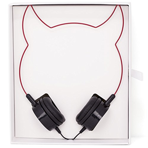 Lux Accessories Red Devil Ears Headphones Wire Frame Horns Headset w Microphone]()