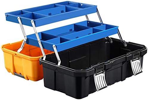 工具箱 ツールボックスハードケース エコブラック アクティブストッカー 収納ボックス 大容量 折り畳み式 取っ手付 3段