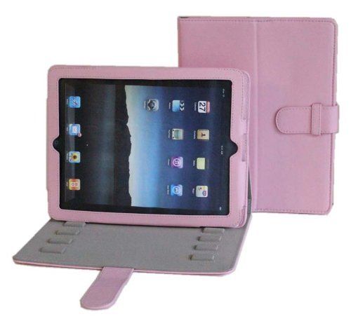 Apple iPad PU Leather Multi-Angle Adjustable Stand/Carrying Case for Apple iPad 3G WiFi 16GB 32GB 64GB Made by Gilsson (Pink Color)