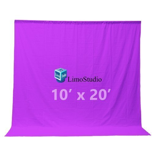 LimoStudio Photography Backdrop 10 x 20 Ft Purple Muslin Photography Studio Video Background, AGG206
