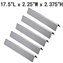 GasSaf Flavorizer Bar 304 Stainless Steel Replacement for Weber Genesis 300,E310,S310,E330,EP310,EP320,EP330,S310,S330 Series Grill(5 Packs)