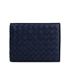 Made of Leather, Woven detail, Coin Pocket; 3 card slots, 4 slip pockets, 2 money compartments; Measurements: 5 L x 3 6/8 H x 6/8 W inches; Original GBottega Veneta box, tags, and authenticity cards included; Made in Italy