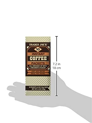 Trader Joe's Instant Coffee Packets with Creamer & Sugar 10 Packets, 4.2 Oz (Pack of 2) from Trader Joe's