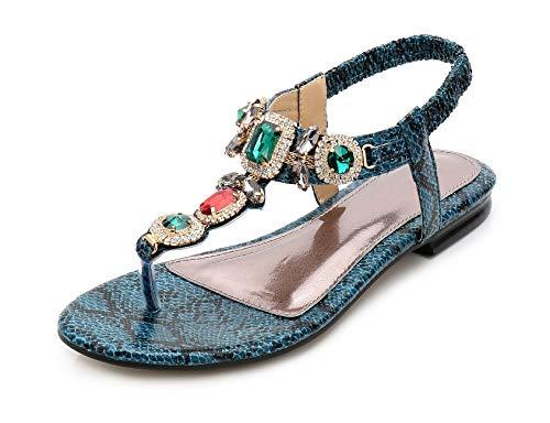 Plates Sandales Vert Molles Jds® Dessin Bohême Chaussures Strass Des Mode Fortuning's De D'été Dame xcSqZ7OX