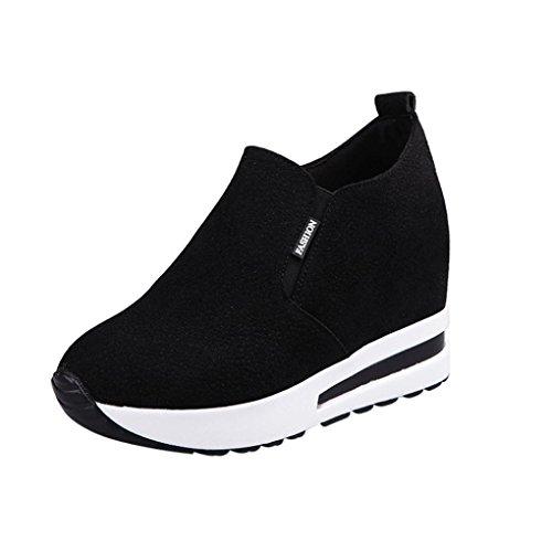 Btruely Damen Versteckt Schwarz Freizeitschuhe Keilstiefel Damen Plateauschuhe Mode Stiefeletten Sportschuhe Mädchen Hacke Schuhe Sneakers Schuhe 5ZwHqRT