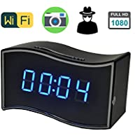 CamRom Security & Surveillance 1080P P2P Wifi Pinhole Hidden Alarm Clock Camera Mini Clock H.264 Cameras Mini Camcorder Video Recorder SP8813