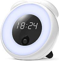 TOYEN 目覚まし時計 LEDクロック 目覚ましライト LEDナイトライト スマートセンサーナイトライト スマートクロック ウェイクアップライト スヌーズ スタンド機能付き