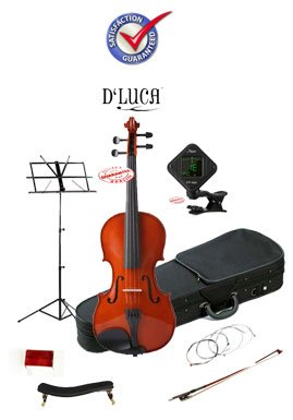 D'Luca Meister Student Violin School Package 4/4 DL-250-44-PACK