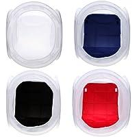"""Andoer® 16"""" 40 x 40 cm estudio de fotografía Softbox Caja de luz Cube Box + 4 Telones de fondo"""