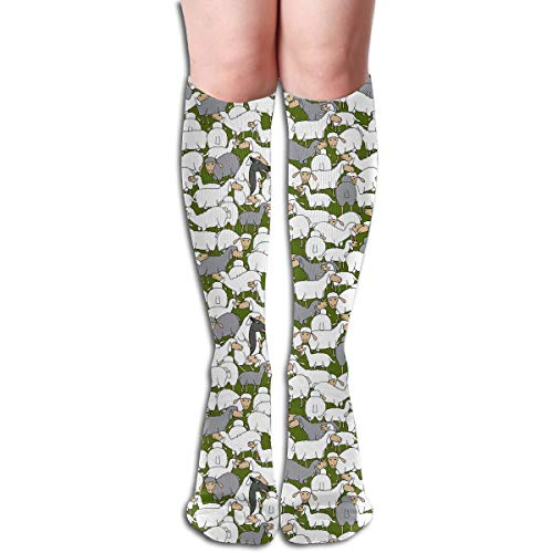 Wolf In Sheep's Clothing Themed Clothing Apparel Leg Mid Tall Long Tube Knee High Calf Stocking Costume Clothes Dresses Hi Female Ladies Women Girl Teen Youth Hosiery Socks ()
