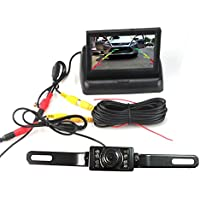 Vehicle Backup Cameras, E-best 4.3inch Foldable LCD Monitor and 17pcs LED Night Vision Car Rearview Backup Camera Assembly