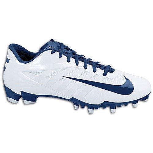 NIKE VAPOR PRO LOW LAX FOOTBALL CLEATES WHITE NAVY 535850 141 (9 D(M) US)