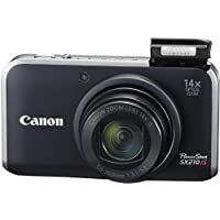 Canon Digital Camera PowerShot SX210 IS (Black) PSSX210IS(BK) - International Version