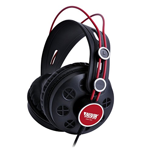 """NOVIK NEO HNK-402 Professional Reference Studio Headphones Max Power: 1200mW 1/4"""" Jack adapter included 1/8"""" Stereo mini-jack connector (3 meters Cable) by NOVIK NEO"""