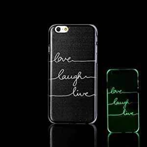 iPhone 6 Plus compatible Graphic/Novelty/Glow in the Dark Back Cover