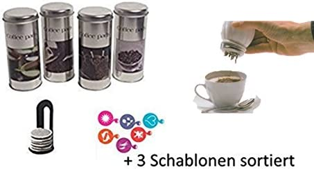 Vorratsdosen Kaffeepaddosen mit Kaffeemotiven 3 St/ück Pad heber