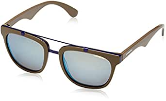 Carrera - Gafas de sol Rectangulares, color negro/azul (mudblukha), talla Medium