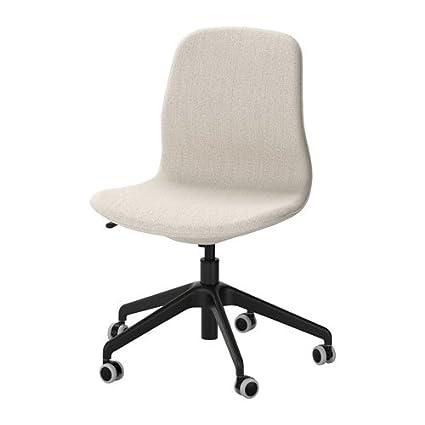 Amazon.com - IKEA Swivel Chair, Gunnared Beige, Black ...