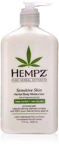 Hempz Sensitive Skin Herbal Body Moisturizer, Off White, 17 Fluid Ounce