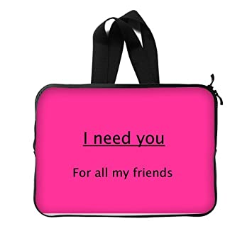 I Need You For All My Friends Quotes Pink Wallpaper Custom