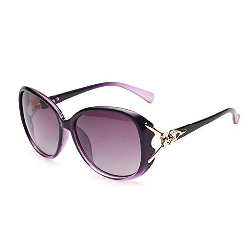 Europa Elegante Gafas De De Moda QZ Sol Personalidad Color Cómodo Gafas Purple De HOME Gafas Y América Rojo Vino Sol CwxXFvq