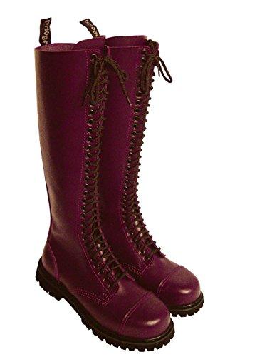 30 Trou Rangers Bottes bottes avec embout en acier Couleur Noire ou Bordeaux Chaussure à lacets - Noir, 45/11