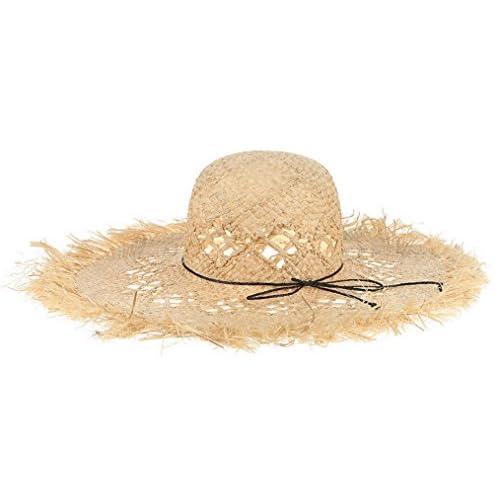 4a2b7b93fcd608 C-Princess ストローハット 麦わら帽子 つば広帽子 テンガロンハット 女優帽 レディース ダメージ