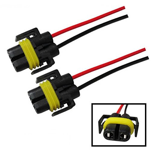 iJDMTOY (2) H11 H8 880 881 Female Adapter Wiring Harness Sockets Wire For Headlights or Fog (Car Headlight Wiring)