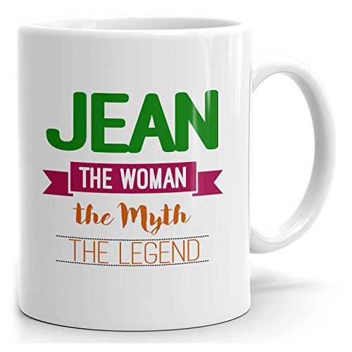 (MugMax The Woman the Myth the Legend D5 Ceramic Coffee Mug Personlized Jean White 15)