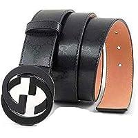 Man's Fashion GG Leather Alloy Buckle Belt