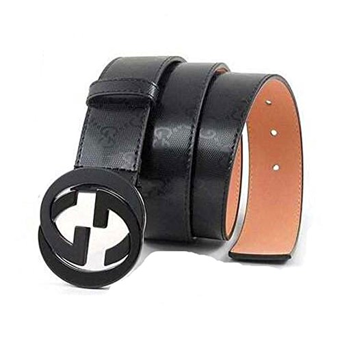 Man's Fashion GG Leather Alloy Buckle Belt (30