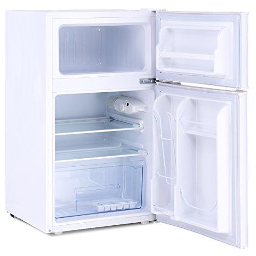 Costway 2 Door Refrigerator 3 2 Cu Ft Compact Stainless