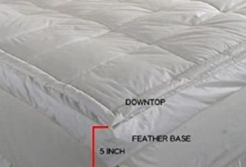 Amazoncom Luxurious Downtop Baffle Box 5inch Gusset Feather Bed