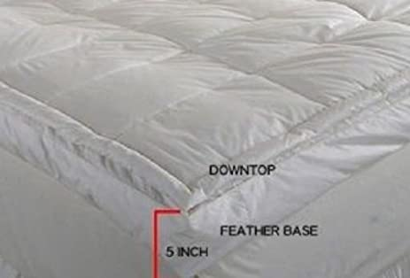 luxurious downtop baffle box 5inch gusset feather bed rest in luxurious